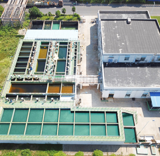 Wastewater treatment station of Wuhan Gaoke Surface Treatment Industrial Park